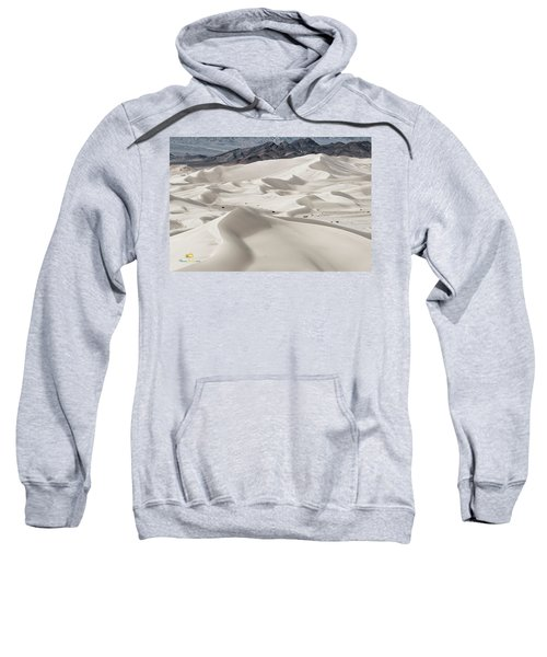 Sweatshirt featuring the photograph Dumont Dunes 5 by Jim Thompson