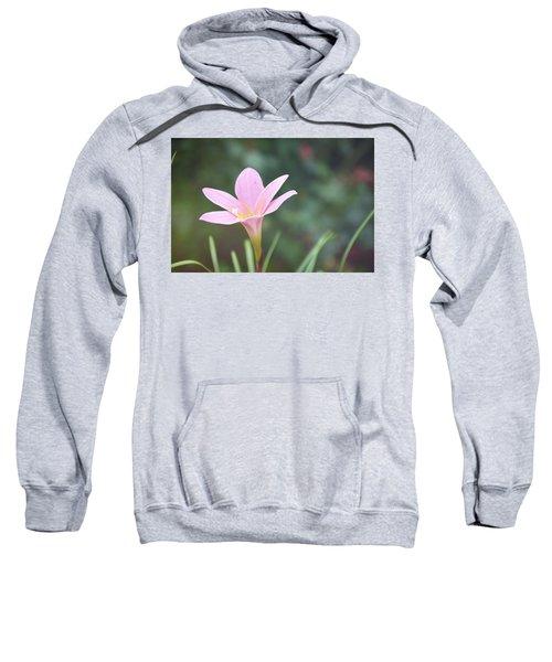 Pink Flower Sweatshirt by Gordana Stanisic