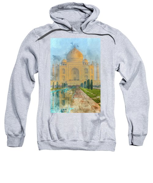 Taj Mahal In Agra India Sweatshirt