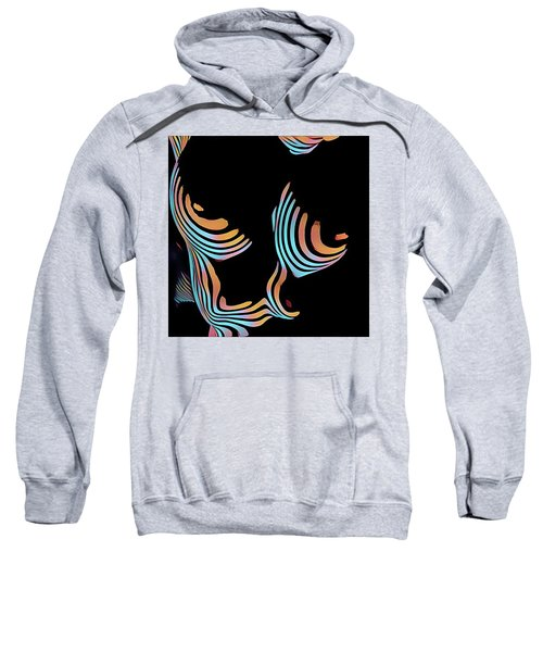 Sweatshirt featuring the digital art 5126s-mak Large Breasts Ribs Abstract View Rendered In Composition Style by Chris Maher