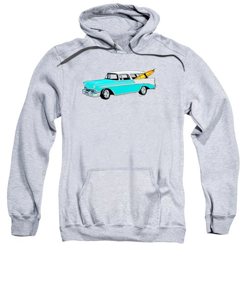 56 Chevy Nomad By The Sea In The Morning With Vivachas Sweatshirt