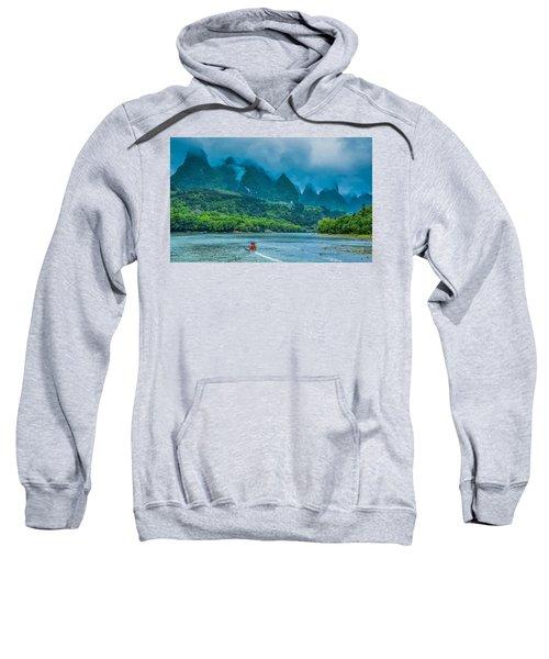 Karst Mountains And Lijiang River Scenery Sweatshirt