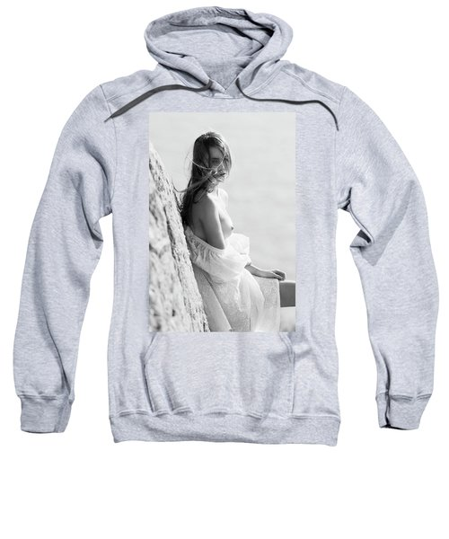 Girl In White Dress Sweatshirt