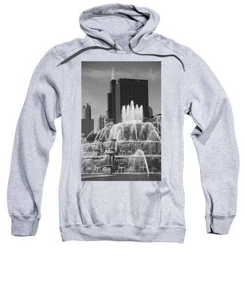 Chicago Skyline And Buckingham Fountain Sweatshirt