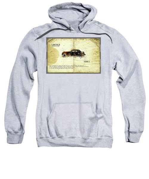 Retro Car In Sketch Style Sweatshirt