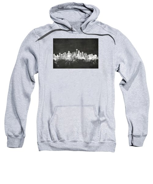 Seattle Washington Skyline Sweatshirt by Michael Tompsett