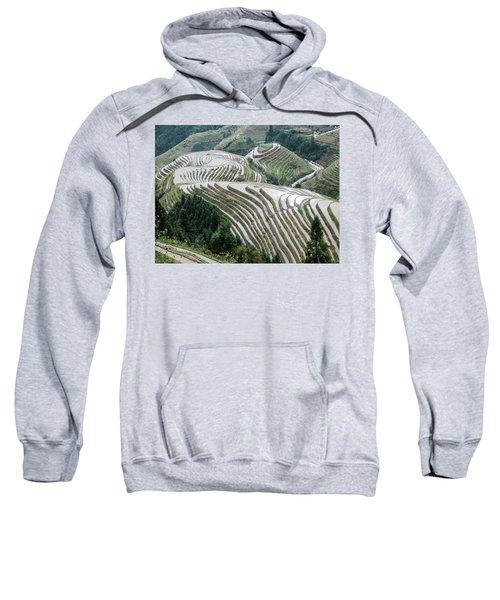 Terrace Fields Scenery In Spring Sweatshirt