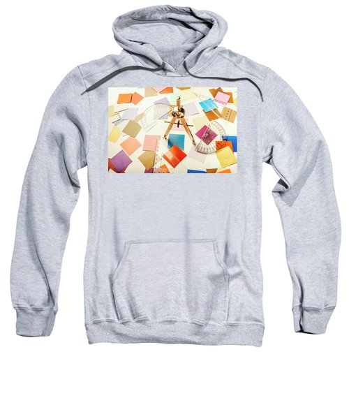 A Colourful Blueprint Sweatshirt