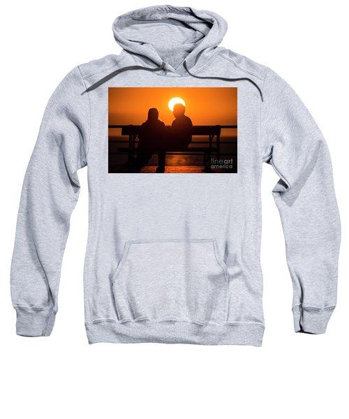 A Couple Sitting At Sunset Sweatshirt