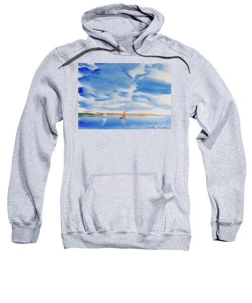 A Fine Sailing Breeze On The River Derwent Sweatshirt