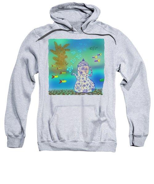 A Fishy Tea Pot Sweatshirt