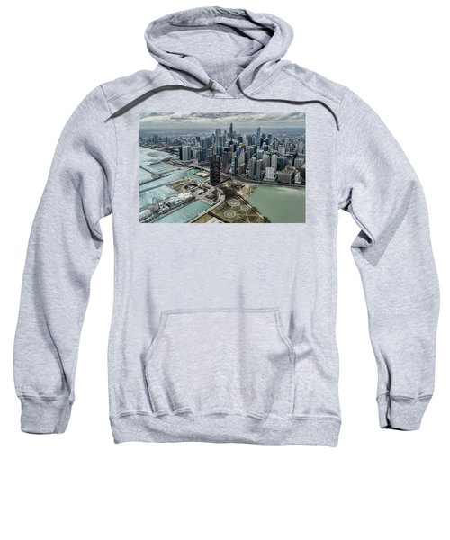 A Helicopter View Of Chicago's Lakefront Sweatshirt