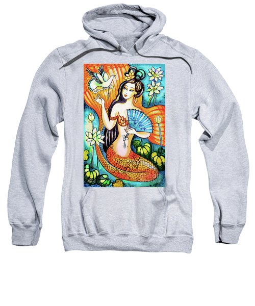 Sweatshirt featuring the painting A Letter From Far Away by Eva Campbell