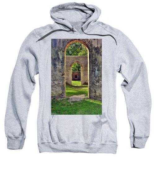 A Look Through Chapel Of Ease St. Helena Island Beaufort Sc Sweatshirt