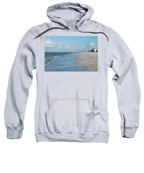 A Morning Walk On Fort Myers Beach Fort Myers Florida Sweatshirt