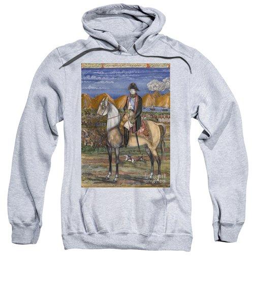 A Portrait Of Napoleon On Horseback Sweatshirt