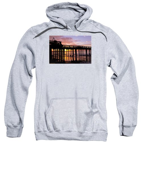 Sweatshirt featuring the photograph A Quiet And Beautiful Start by Lora Lee Chapman