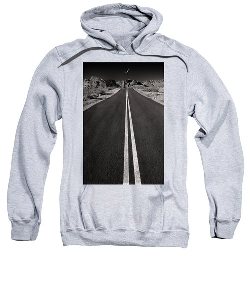 A Road With A Moon  Sweatshirt