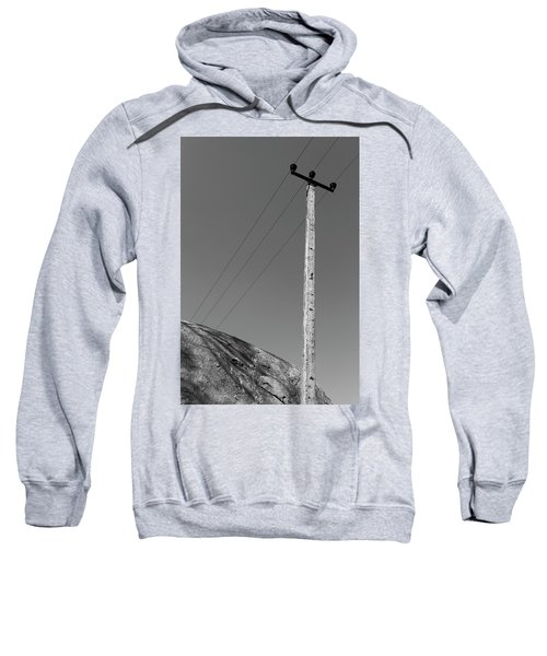 Sweatshirt featuring the photograph A Rock And A Pole, Hampi, 2017 by Hitendra SINKAR