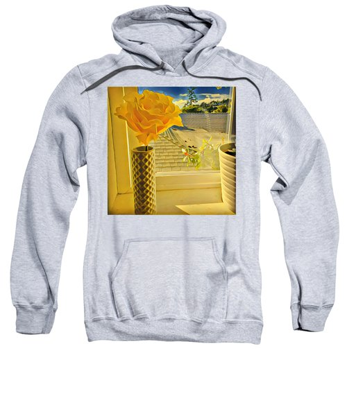 A Rose Is A Rose Electric Sweatshirt