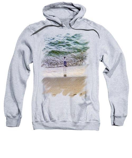 A Seagull Looking Out To Sea Sweatshirt