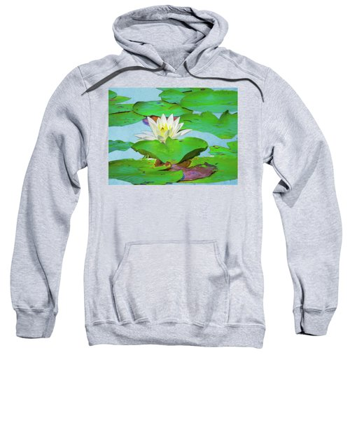 A Single Water Lily Blossom Sweatshirt