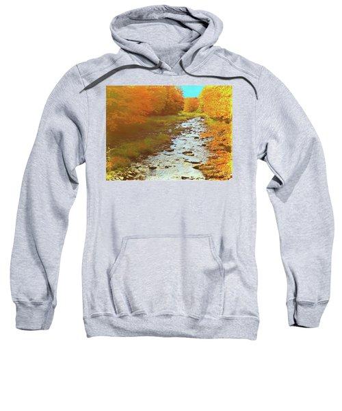 A Small Stream Bright Fall Color. Sweatshirt