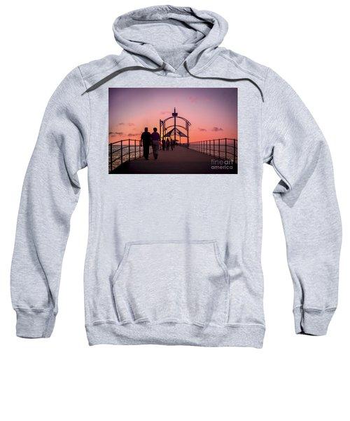 A Stroll Along Sunset Pier Sweatshirt