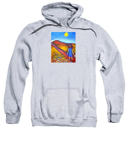 Sweatshirt featuring the painting A Sunny Path by Winsome Gunning