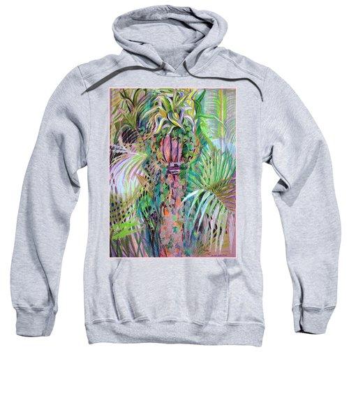 A Tropical Basket On A Post Sweatshirt