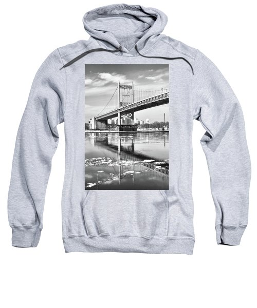 A Winter Portrait Of The Triboro Bridge Sweatshirt