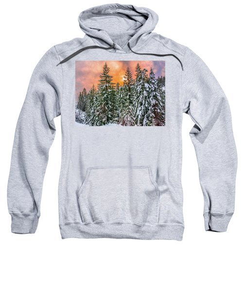 A Winters Sky Set Ablaze Sweatshirt