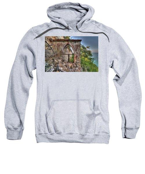 Abandoned Places Iron Gate Over The Sea - Cancellata Sul Mare Sweatshirt