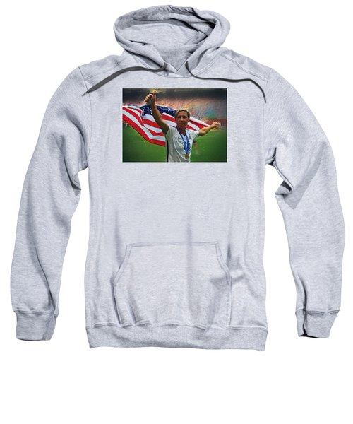 Abby Wambach Us Soccer Sweatshirt by Semih Yurdabak
