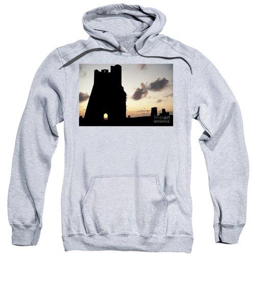 Aberystwyth Castle Tower Ruins At Sunset, Wales Uk Sweatshirt
