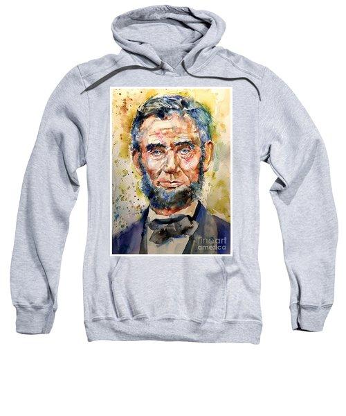 Abraham Lincoln Watercolor Sweatshirt