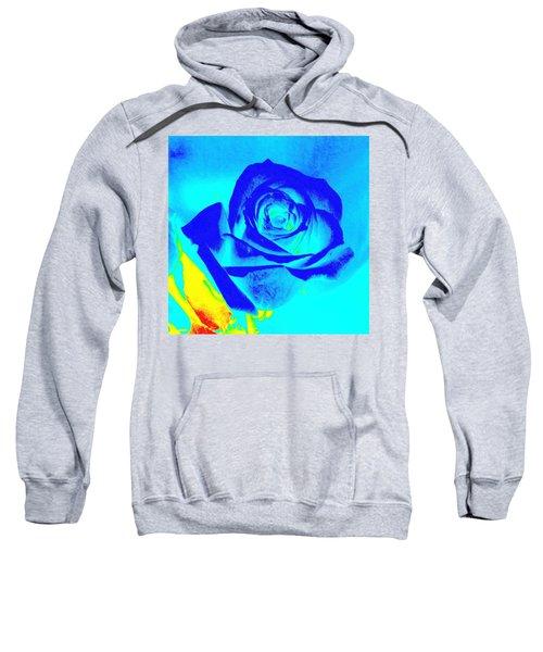Single Blue Rose Abstract Sweatshirt