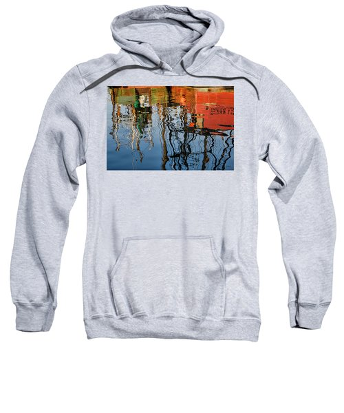 Abstract Boat Reflections Iv Sweatshirt