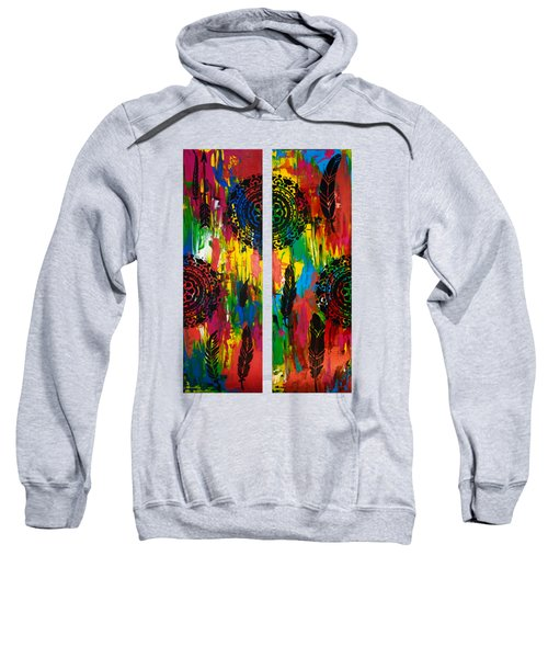 Abstract Boho Design - Diptych By Nikki And Kaye Menner Sweatshirt