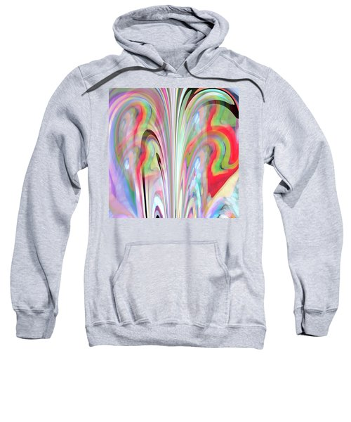 Sweatshirt featuring the digital art Abstract Butterfly by Mihaela Stancu