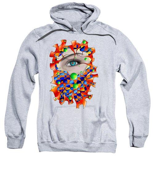 Abstract Digital Art - Delaneo V3 Sweatshirt