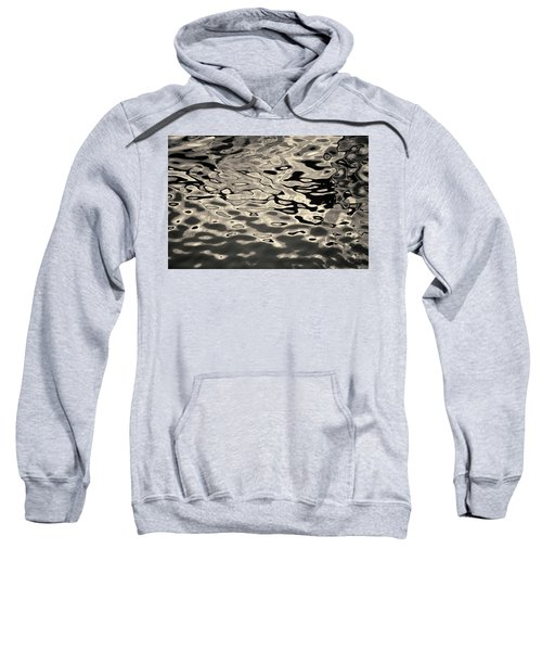 Abstract Dock Reflections I Toned Sweatshirt