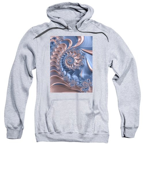 Abstract Fractal Art Rose Quartz And Serenity  Sweatshirt