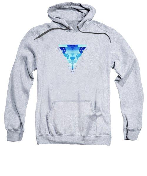 Abstract Geometric Triangle Pattern Futuristic Future Symmetry In Ice Blue Sweatshirt