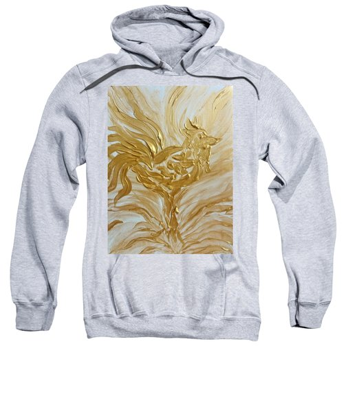 Abstract Golden Rooster Sweatshirt