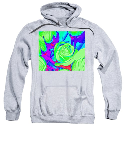 Abstract Green Roses Sweatshirt