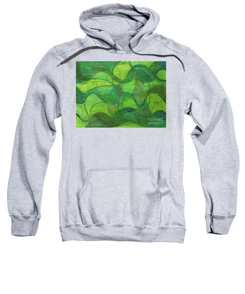 Abstract Green Wave Connection Sweatshirt