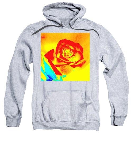 Single Orange Rose Abstract Sweatshirt
