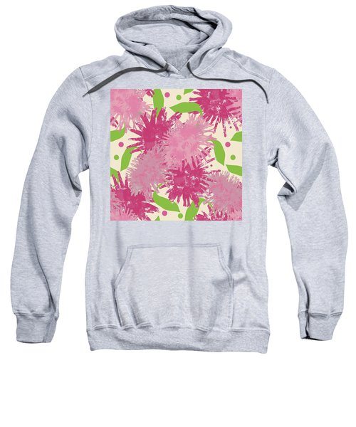 Abstract Pink Puffs Sweatshirt
