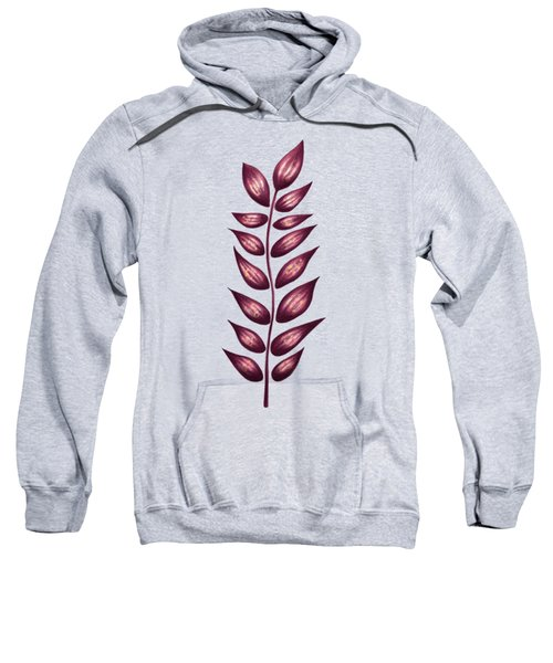 Abstract Plant With Pointy Leaves In Purple And Yellow Sweatshirt